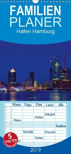 Hafen Hamburg – Familienplaner hoch (Wandkalender 2019 , 21 cm x 45 cm, hoch) von Helmut Gulbins,  Dr.