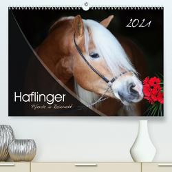 Haflinger-Pferde in Reinzucht (Premium, hochwertiger DIN A2 Wandkalender 2021, Kunstdruck in Hochglanz) von Natural-Golden.de