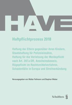 Haftpflichtprozess 2018 von Fellmann,  Walter, Weber,  Stephan