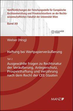 Haftung bei Wertpapierveräußerung von Welser,  Rudolf