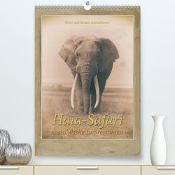 Haia Safari nostalgische Impressionen (Premium, hochwertiger DIN A2 Wandkalender 2021, Kunstdruck in Hochglanz) von Schmidbauer,  Heinz