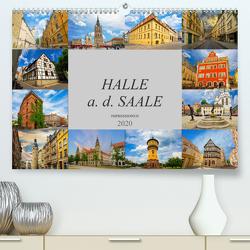 Halle a. d. Saale Impressionen (Premium, hochwertiger DIN A2 Wandkalender 2020, Kunstdruck in Hochglanz) von Meutzner,  Dirk