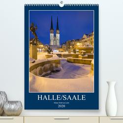 Halle/Saale – Meine Stadt im Licht (Premium, hochwertiger DIN A2 Wandkalender 2020, Kunstdruck in Hochglanz) von Wasilewski,  Martin