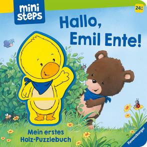 Hallo, Emil Ente! Mein erstes Holzpuzzle-Buch von Orso,  Kathrin-Lena, Senner,  Katja