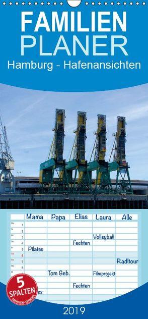 Hamburg 2019 – Hafenansichten – Familienplaner hoch (Wandkalender 2019 , 21 cm x 45 cm, hoch) von Spazierer (c) ChriSpa,  Christian