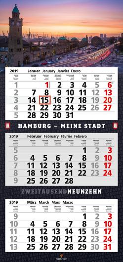 Hamburg – 3-Monatskalender 2019 (Wandkalender) von Maiocchi,  Tommaso