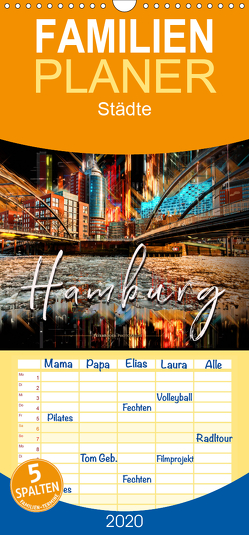 Hamburg abstrakt – Familienplaner hoch (Wandkalender 2020 , 21 cm x 45 cm, hoch) von Roder,  Peter