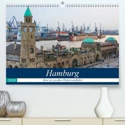 Hamburg – Ahoi zur großen Hafenrundfahrt (Premium, hochwertiger DIN A2 Wandkalender 2020, Kunstdruck in Hochglanz) von Krug,  Gabriele