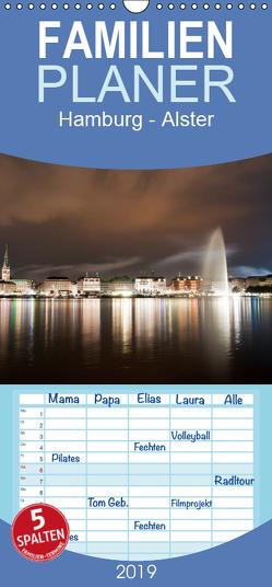 Hamburg – Alster – Familienplaner hoch (Wandkalender 2019 , 21 cm x 45 cm, hoch) von Enders,  Borg