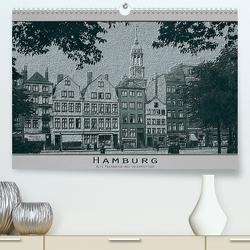 Hamburg, alte Aufnahmen neu interpretiert. (Premium, hochwertiger DIN A2 Wandkalender 2020, Kunstdruck in Hochglanz) von Renken,  Erwin
