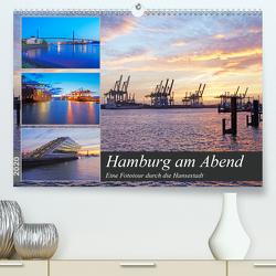Hamburg am Abend (Premium, hochwertiger DIN A2 Wandkalender 2020, Kunstdruck in Hochglanz) von Schulz,  Olaf