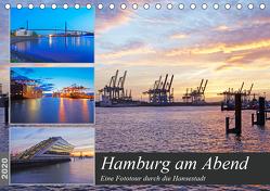 Hamburg am Abend (Tischkalender 2020 DIN A5 quer) von Schulz,  Olaf
