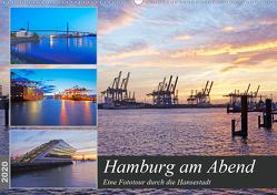 Hamburg am Abend (Wandkalender 2020 DIN A2 quer) von Schulz,  Olaf