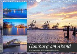 Hamburg am Abend (Wandkalender 2020 DIN A4 quer) von Schulz,  Olaf