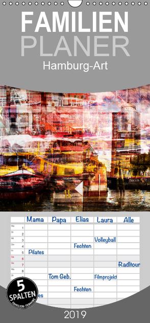 Hamburg-Art – Familienplaner hoch (Wandkalender 2019 , 21 cm x 45 cm, hoch) von Jordan,  Karsten