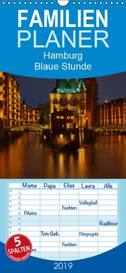 """Hamburg """"Blaue Stunde"""" – Familienplaner hoch (Wandkalender 2019 , 21 cm x 45 cm, hoch) von Paragnik,  Thomas"""