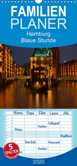 """Hamburg """"Blaue Stunde"""" – Familienplaner hoch (Wandkalender 2020 , 21 cm x 45 cm, hoch) von Paragnik,  Thomas"""
