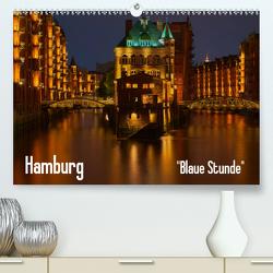 """Hamburg """"Blaue Stunde"""" (Premium, hochwertiger DIN A2 Wandkalender 2020, Kunstdruck in Hochglanz) von Paragnik,  Thomas"""