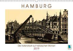 Hamburg: Die Hafenstadt auf historischen Stichen (Wandkalender 2019 DIN A3 quer) von CALVENDO