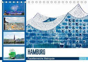 Hamburg – facettenreiche Metropole (Tischkalender 2019 DIN A5 quer) von Schwarze,  Nina