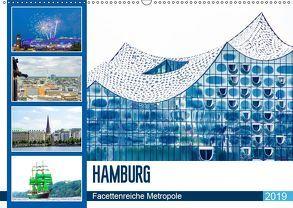 Hamburg – facettenreiche Metropole (Wandkalender 2019 DIN A2 quer) von Schwarze,  Nina