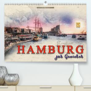 Hamburg für Genießer (Premium, hochwertiger DIN A2 Wandkalender 2021, Kunstdruck in Hochglanz) von Roder,  Peter