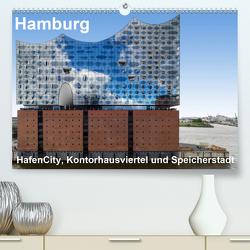 Hamburg. HafenCity, Kontorhausviertel und Speicherstadt. (Premium, hochwertiger DIN A2 Wandkalender 2020, Kunstdruck in Hochglanz) von Seethaler Fotografie,  Thomas