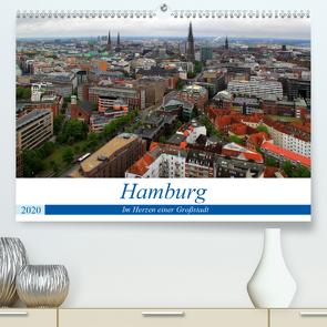 Hamburg – Im Herzen einer Großstadt (Premium, hochwertiger DIN A2 Wandkalender 2020, Kunstdruck in Hochglanz) von Klatt,  Arno