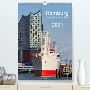 Hamburg – Impressionen einer Stadt (Premium, hochwertiger DIN A2 Wandkalender 2021, Kunstdruck in Hochglanz) von Kolfenbach,  Klaus