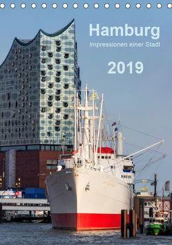 Hamburg – Impressionen einer Stadt (Tischkalender 2019 DIN A5 hoch) von Kolfenbach,  Klaus