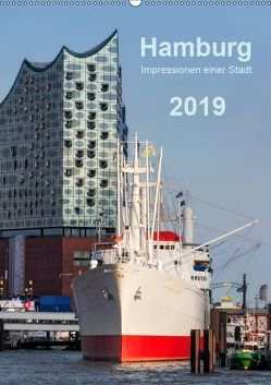 Hamburg – Impressionen einer Stadt (Wandkalender 2019 DIN A2 hoch) von Kolfenbach,  Klaus