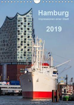 Hamburg – Impressionen einer Stadt (Wandkalender 2019 DIN A4 hoch) von Kolfenbach,  Klaus