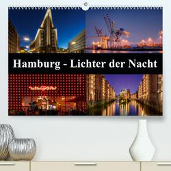 Hamburg – Lichter der Nacht (Premium, hochwertiger DIN A2 Wandkalender 2020, Kunstdruck in Hochglanz) von Buchspies,  Carina