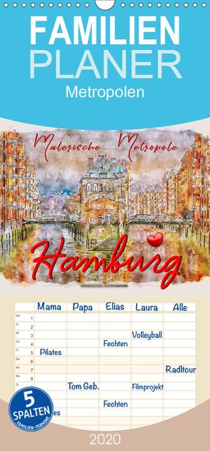 Hamburg – malerische Metropole – Familienplaner hoch (Wandkalender 2020 , 21 cm x 45 cm, hoch) von Roder,  Peter