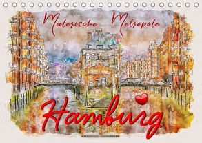 Hamburg – malerische Metropole (Tischkalender 2019 DIN A5 quer) von Roder,  Peter