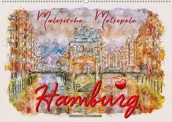 Hamburg – malerische Metropole (Wandkalender 2019 DIN A2 quer) von Roder,  Peter