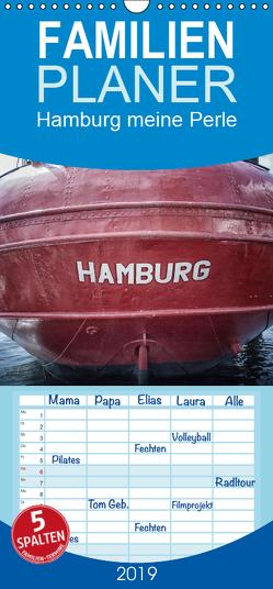 Hamburg meine Perle – Familienplaner hoch (Wandkalender 2019 , 21 cm x 45 cm, hoch) von Billermoker