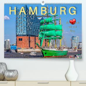 Hamburg – meine Stadt mit viel Herz (Premium, hochwertiger DIN A2 Wandkalender 2021, Kunstdruck in Hochglanz) von Roder,  Peter