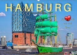 Hamburg – meine Stadt mit viel Herz (Wandkalender 2019 DIN A2 quer) von Roder,  Peter