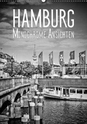 HAMBURG Monochrome Ansichten (Wandkalender 2018 DIN A2 hoch) von Viola,  Melanie