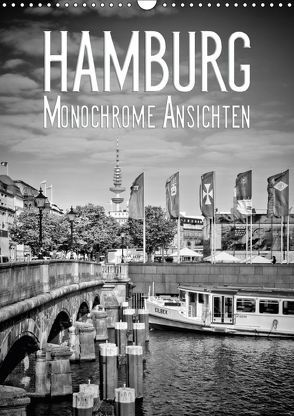 HAMBURG Monochrome Ansichten (Wandkalender 2018 DIN A3 hoch) von Viola,  Melanie