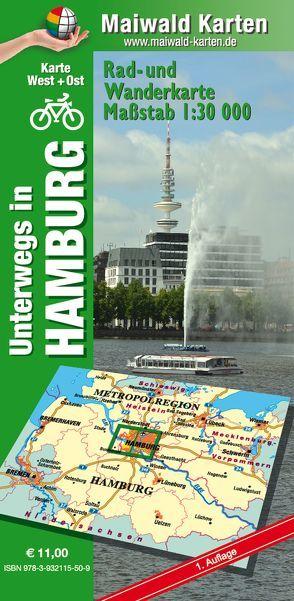 Hamburg Ost und West – Rad- und Wanderkarte –  mit Einsteckhülle von Maiwald,  Detlef, Maiwald,  Detlef sr
