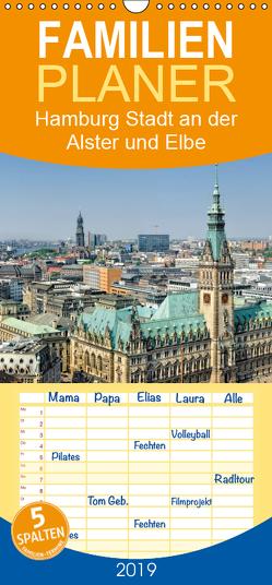 Hamburg Stadt an der Alster und Elbe – Familienplaner hoch (Wandkalender 2019 , 21 cm x 45 cm, hoch) von Voigt,  Andreas