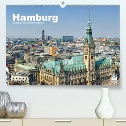 Hamburg Stadt an der Alster und Elbe (Premium, hochwertiger DIN A2 Wandkalender 2021, Kunstdruck in Hochglanz) von Voigt,  Andreas