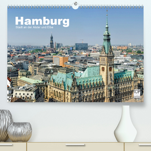 Hamburg Stadt an der Alster und Elbe (Premium, hochwertiger DIN A2 Wandkalender 2020, Kunstdruck in Hochglanz) von Voigt,  Andreas