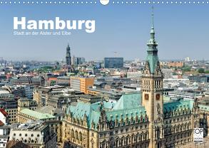 Hamburg Stadt an der Alster und Elbe (Wandkalender 2020 DIN A3 quer) von Voigt,  Andreas