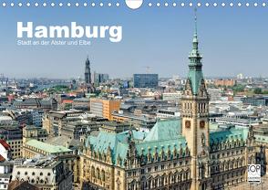 Hamburg Stadt an der Alster und Elbe (Wandkalender 2020 DIN A4 quer) von Voigt,  Andreas
