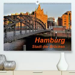 Hamburg. Stadt der Brücken (Premium, hochwertiger DIN A2 Wandkalender 2021, Kunstdruck in Hochglanz) von Pompsch,  Heinz