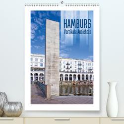 HAMBURG Vertikale Ansichten (Premium, hochwertiger DIN A2 Wandkalender 2021, Kunstdruck in Hochglanz) von Viola,  Melanie