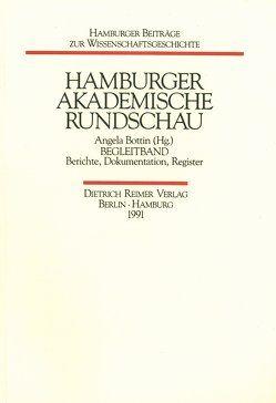 Hamburger Akademische Rundschau von Bottin,  Angela, Krause,  Eckhart, Otto,  Gunter, Walter,  Wolfgang